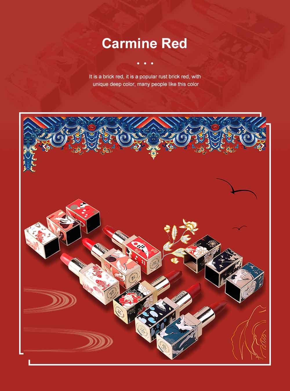 Chinese Palace Classic Style Non-stick Matte Makeup Lip Gloss Waterproof Long Lasting Private Label Lipstick Box Sets 4
