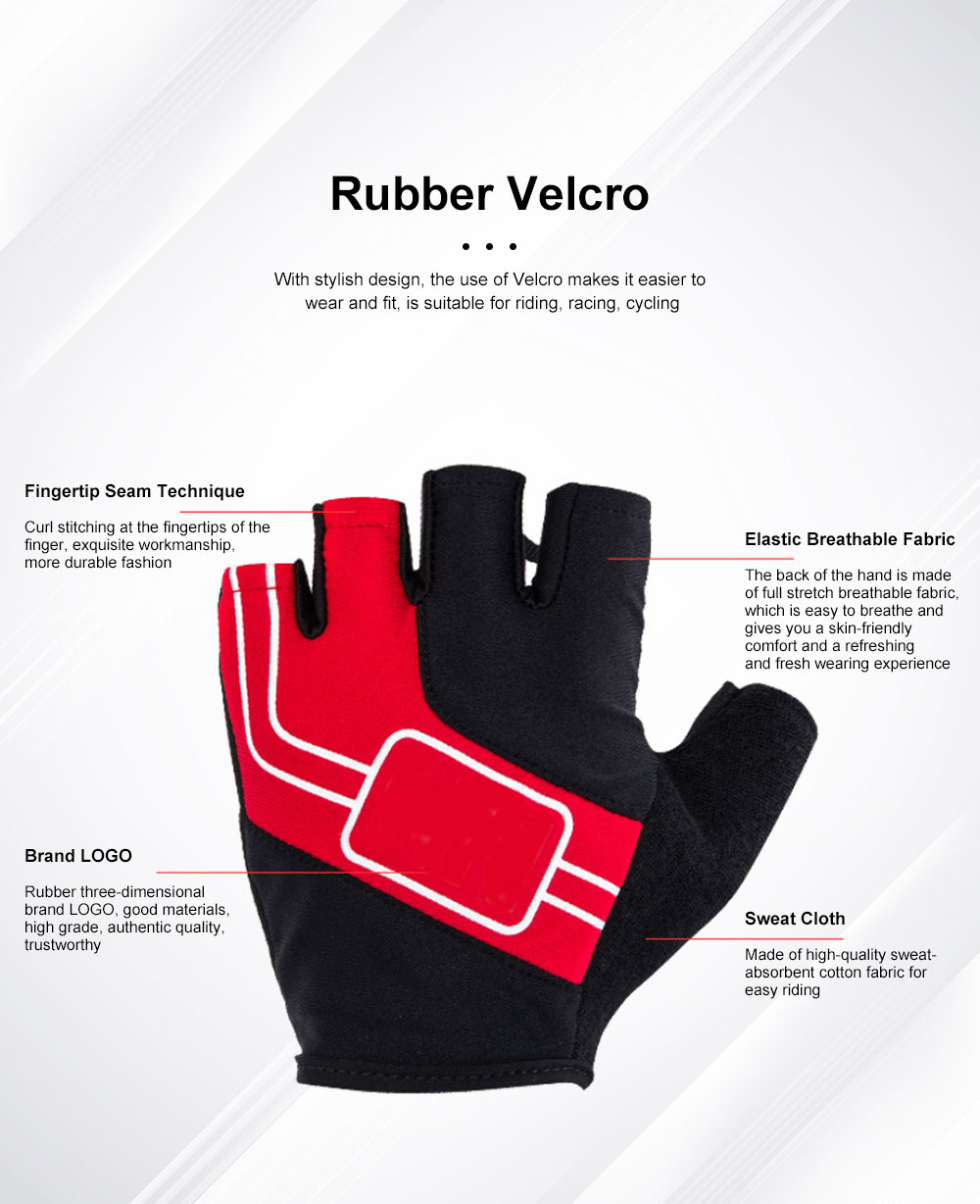 Outdoor Sport Racing Shock-proof Mountain Bike Cycling Gloves for Women Men Half Finger Breathable Bike Riding Anti-slip Cycle Bicycle Gloves 6