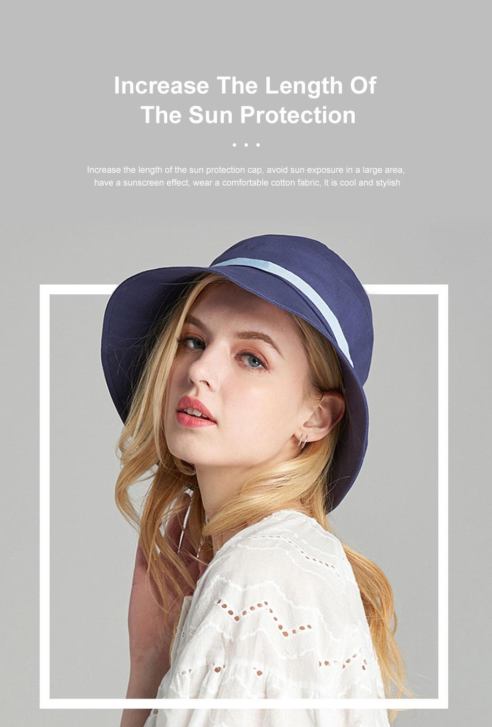 Ladies Sun Hat Cap Female Summer Sunscreen Anti-UV Foldable Outdoor Visor For Women Traveling 1