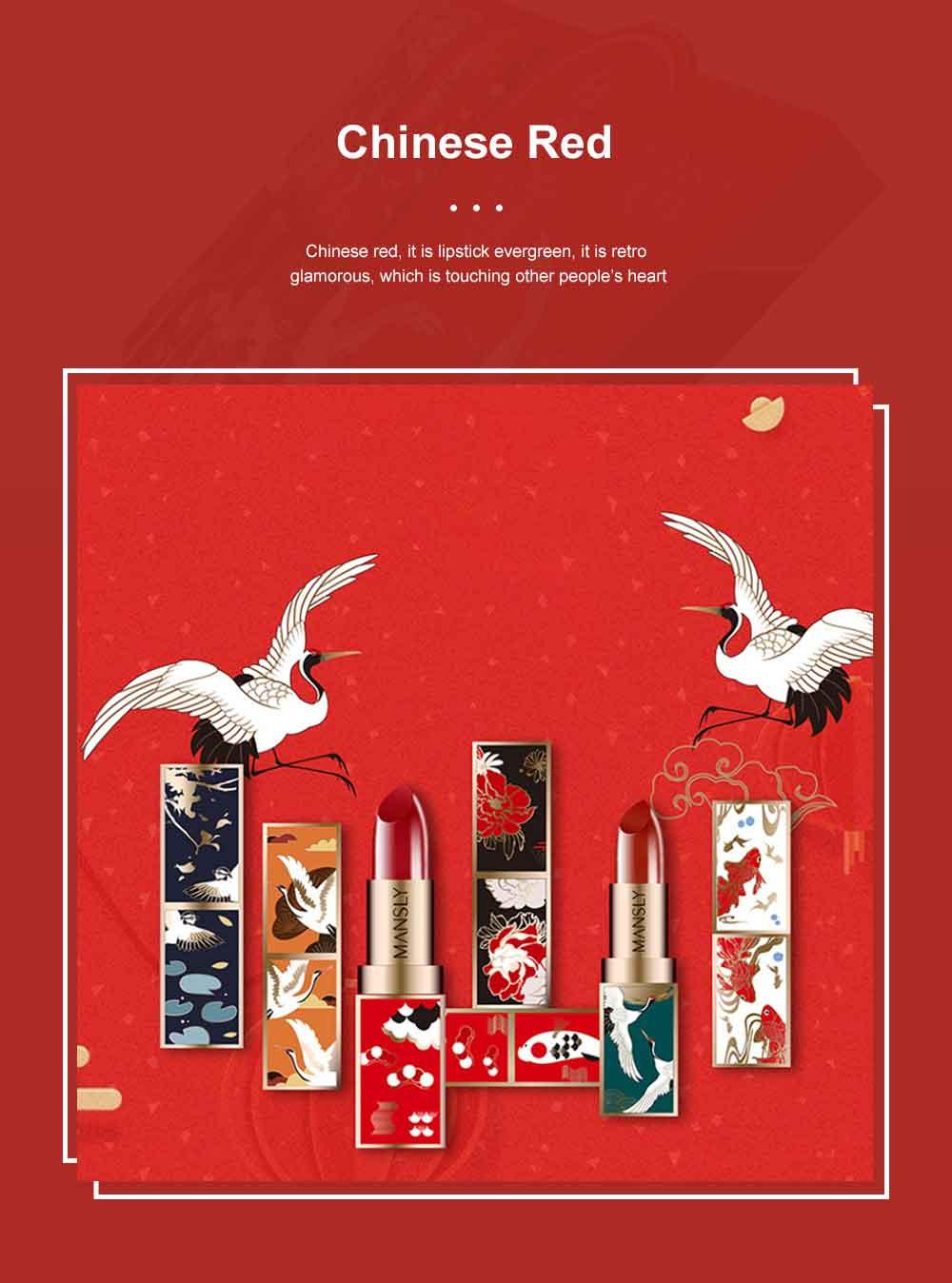 Chinese Palace Classic Style Non-stick Matte Makeup Lip Gloss Waterproof Long Lasting Private Label Lipstick Box Sets 2