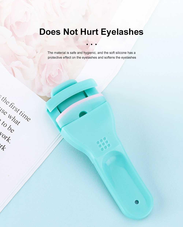 Silicone Eyelash Curler False Eyelash Extension Applicator Tool, Wholesale Portable Lightweight Bling Eyelash Curler 1