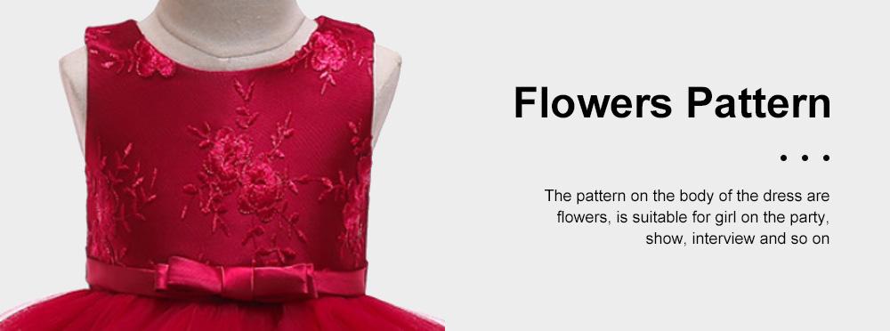 Female Flower Skirts Kids Girls Flower Wedding Dress, Multi-layer Mesh Gauze skirt, Multi-layered Show Dress Party Suit 5