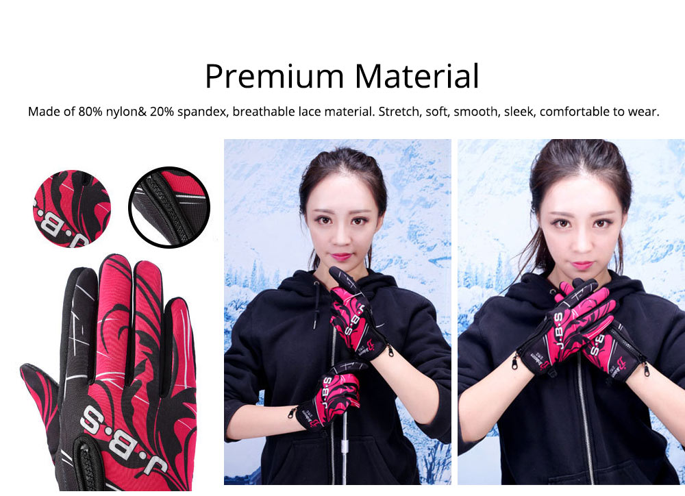 Winter Warm Gloves Touch Screen Gloves Windproof Cold Weather Thicken Thermal Gloves for Outdoor Driving Running Cycling Skiing Gloves Women Men 3