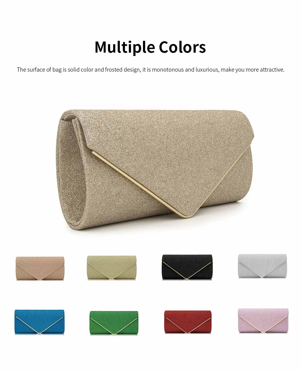 Evening Bag Lining Clothe Material Elegant Clutch for Dinner Women Shiny Envelope-bag Good-looking Handbag 3