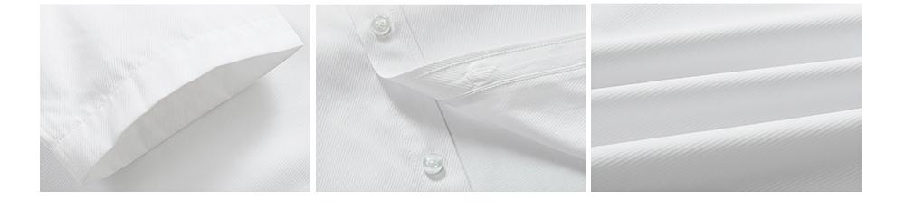 Men's Short Sleeve Shirts with Regular Fit Formal Business Cotton Solid Shirt Classic Slim Fit Flex Collar Dress Shirt 4