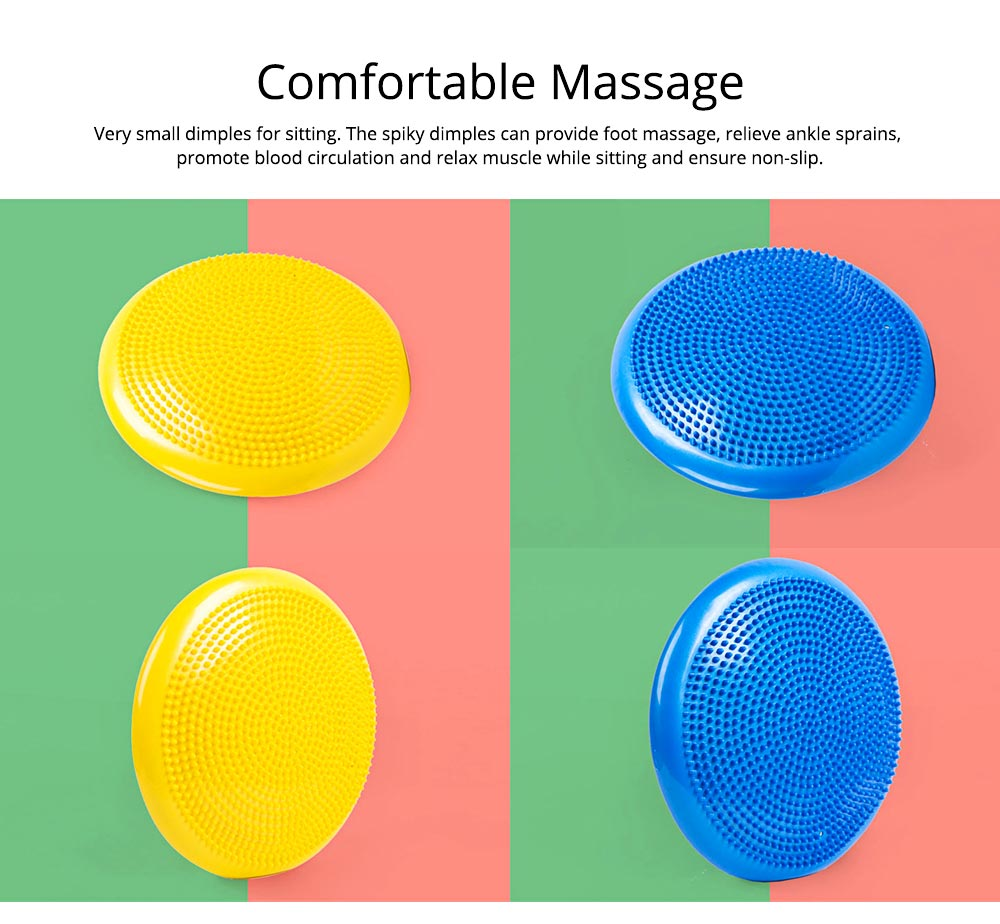 Yoga Balance Disc Extra Thick Inflatable Exercise Fitness Stability Wobble Cushion with Inflator for Training Physical Therapy 6