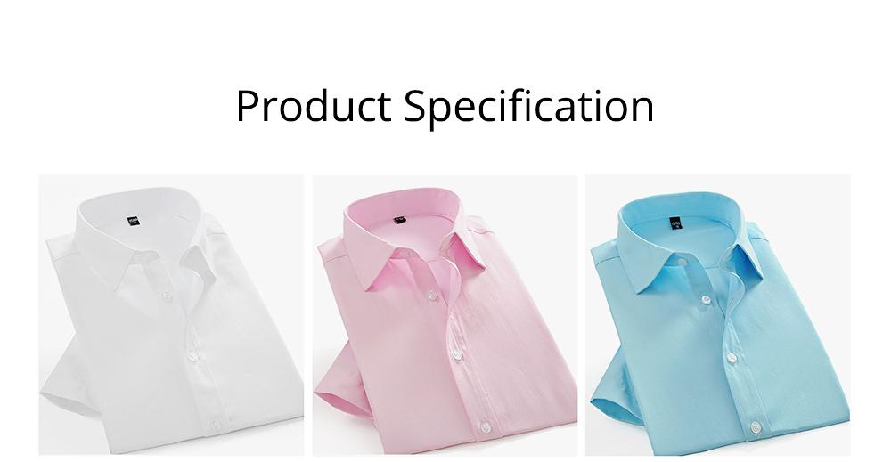 Men's Short Sleeve Shirts with Regular Fit Formal Business Cotton Solid Shirt Classic Slim Fit Flex Collar Dress Shirt 7