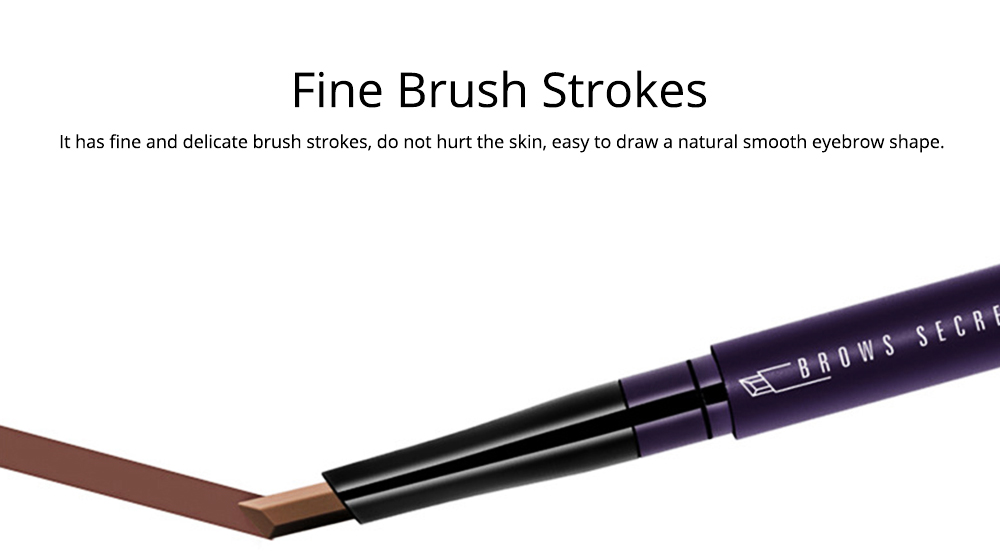 Double-Head Rotated Eyebrow Pencil, Eyebrow Pencil with a Brush 4 Colors Available 2