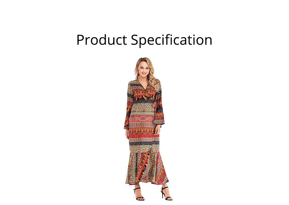 Flared Sleeve Beach Dress for Women, Women V-neck Chiffon Dress Ruffle Hem 5