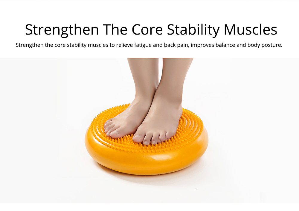 Yoga Balance Disc Extra Thick Inflatable Exercise Fitness Stability Wobble Cushion with Inflator for Training Physical Therapy 1