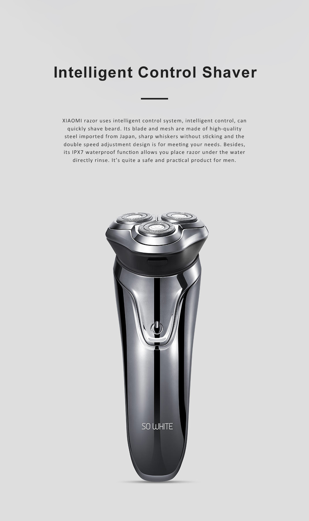 Intelligent Control Shaver Three-blade Reciprocating Electric Razor 3D Floating Razor Rechargeable Electric Shaver 0