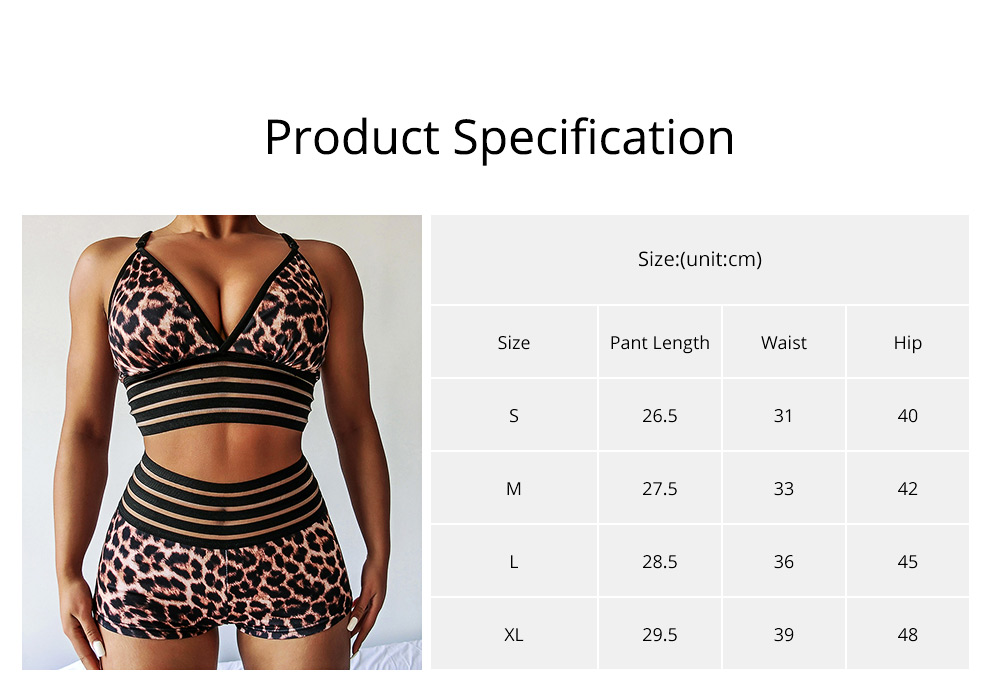 Women's Bodycon 2 Pieces Outfits Crop Cami Tank Tops Shorts Pants Set Leopard Sports Suit 6