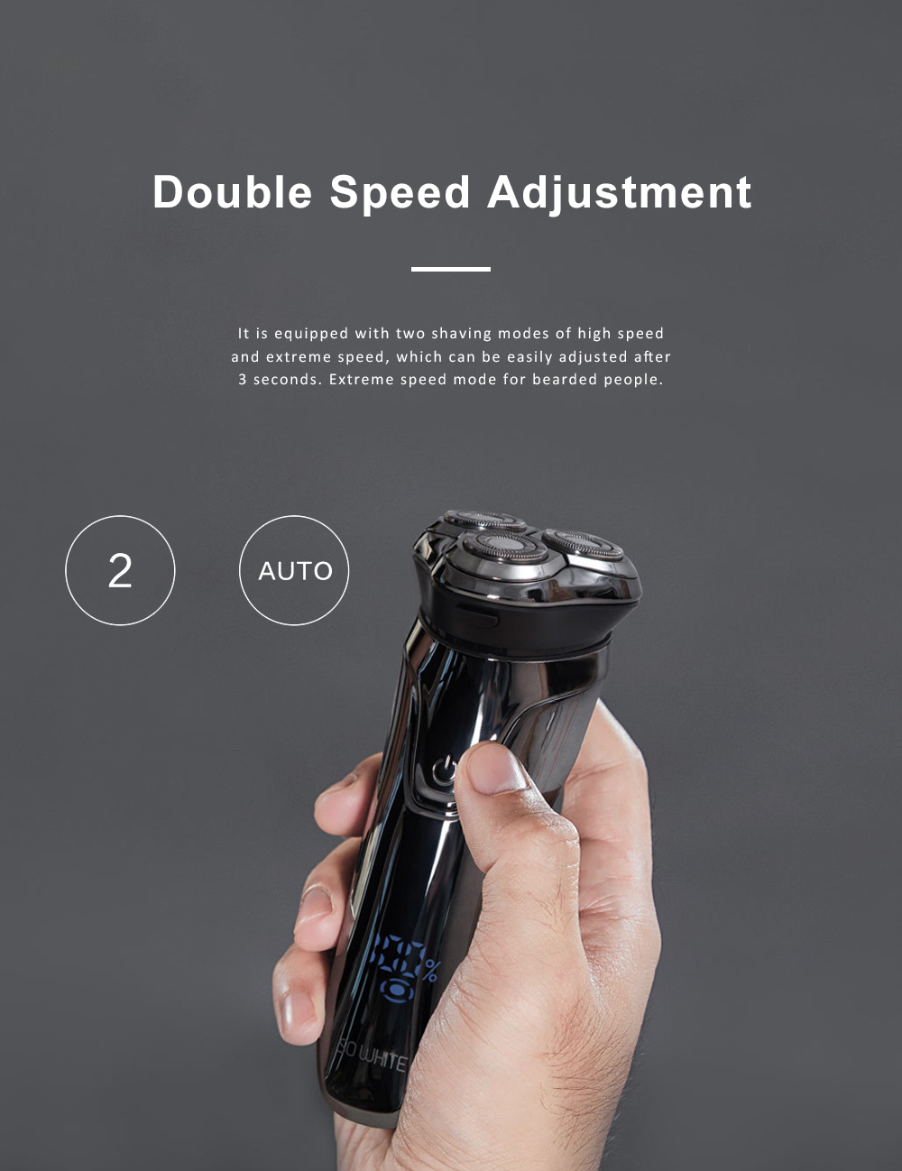 Intelligent Control Shaver Three-blade Reciprocating Electric Razor 3D Floating Razor Rechargeable Electric Shaver 3