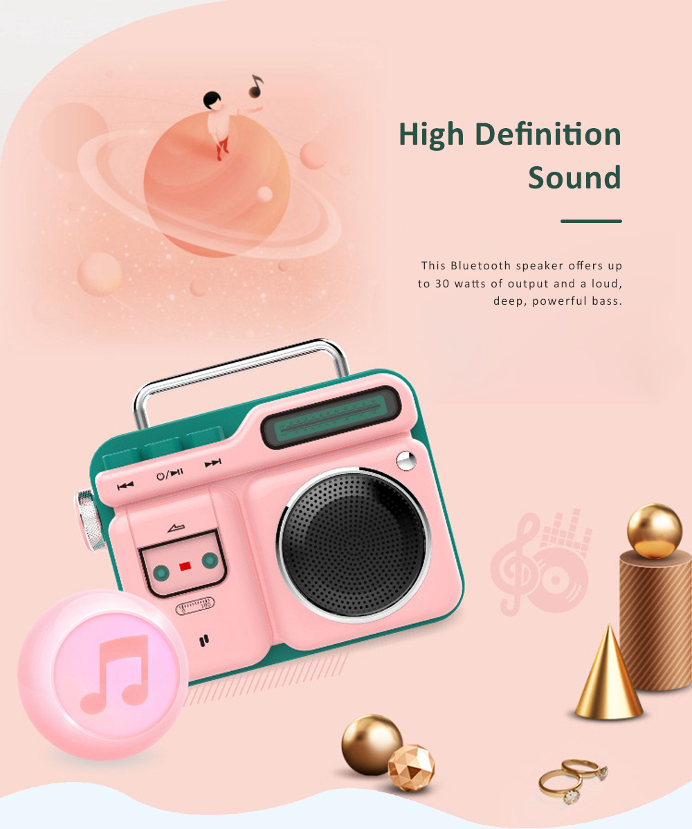 Mini Retro Radio Bluetooth Speaker Portable Vintage Radio High Definition Audio BT 4.2 Bluetooth Speakers 1