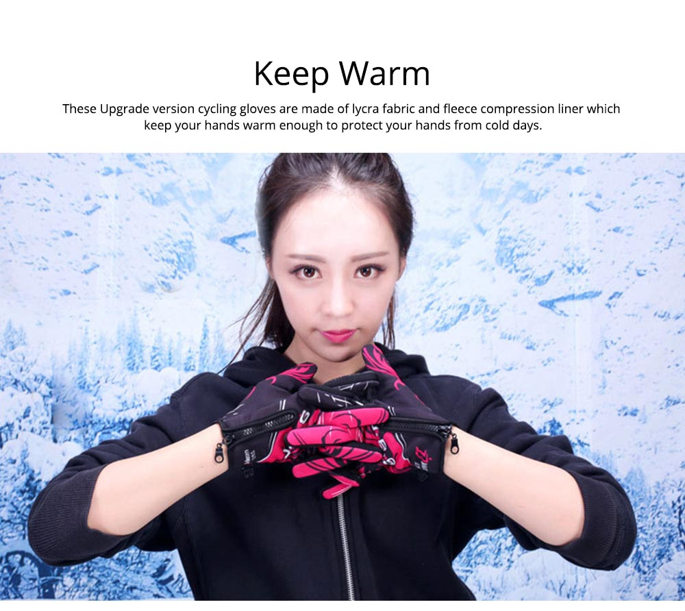 Winter Warm Gloves Touch Screen Gloves Windproof Cold Weather Thicken Thermal Gloves for Outdoor Driving Running Cycling Skiing Gloves Women Men 1