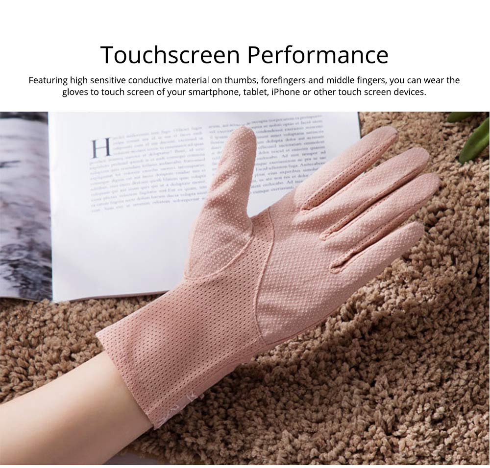 Summer Women Ice Silk Gloves Sun UV Protection Driving Gloves Lace Touchscreen Anti-skid Gloves for Lady Girl Gifts 1