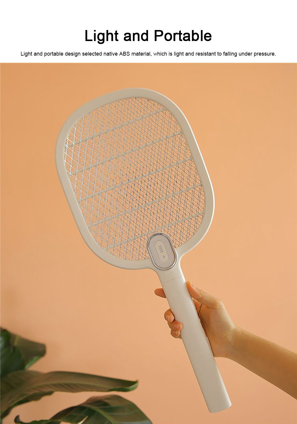 Electronic Mosquito Killer Swatter Metal Mesh Strong Light Mosquito Shoot Bat USB Charging Rechargeable Portable Durable Fly Insect Electric Swatter 4