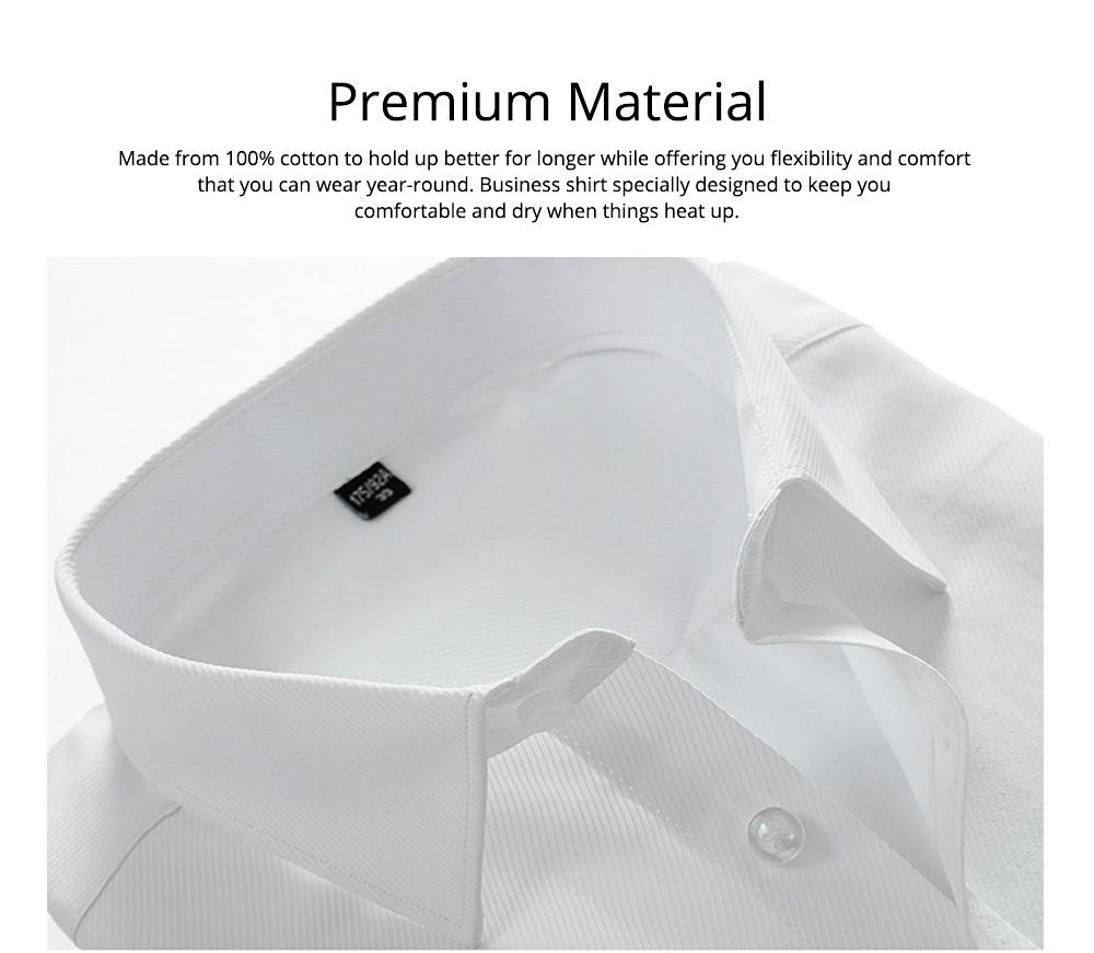 Men's Short Sleeve Shirts with Regular Fit Formal Business Cotton Solid Shirt Classic Slim Fit Flex Collar Dress Shirt 3