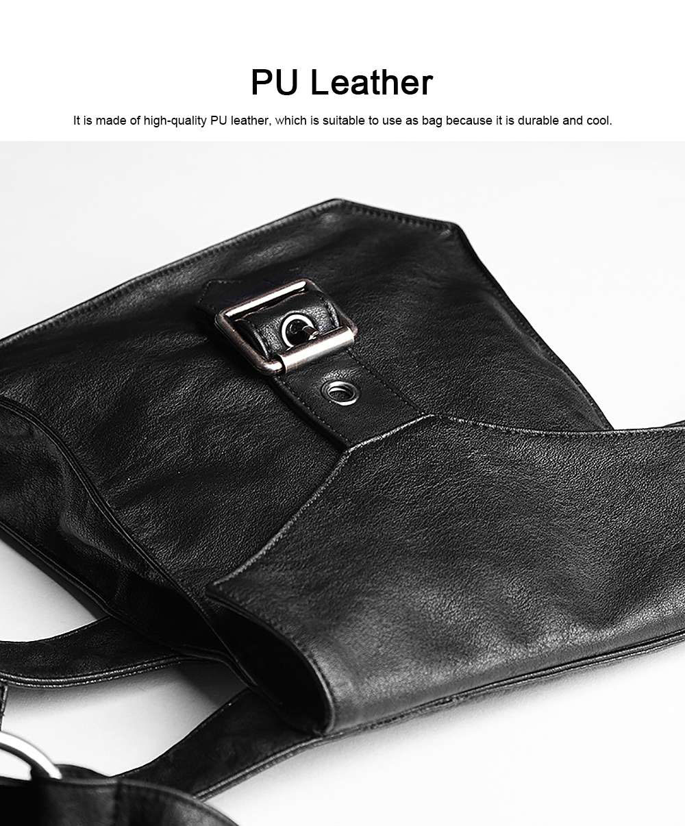 Square Shape Waist Strap Adjustable Belt Backpack, Locomotive Style Bag for Women, PU Leather Waistcoat Halloween Gift 5