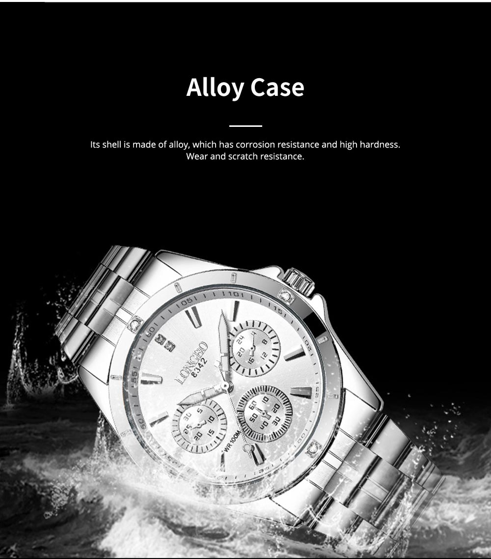 Waterproof 30M Couple Quartz Watch with Steel Band for Men & Women, Quartz Watch for Lovers 6