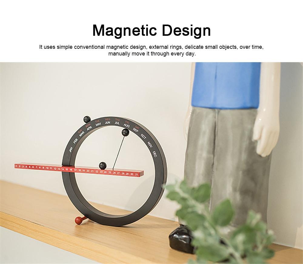 Creative Calendar Artistic Duty-cycle Operation Magnetic ABS Plastic, Magnet Cotton Thread Desk Calendar Birthday Gift or Souvenir 4