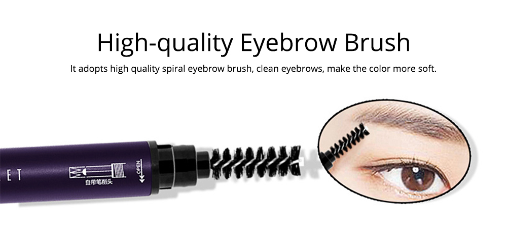 Double-Head Rotated Eyebrow Pencil, Eyebrow Pencil with a Brush 4 Colors Available 4