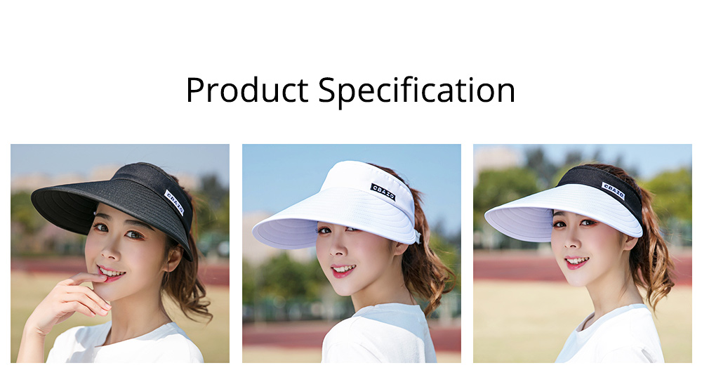 Sun Visor Hats Women Large Brim Summer UV Protection Beach Cap Foldable Driving Hats 6