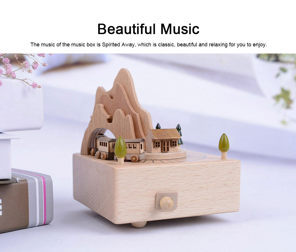 Creative Roller Coaster Wooden Music Box, Hand-made Wood Ware, Gifts Presents Ideal for Girlfriend Children Kids 1