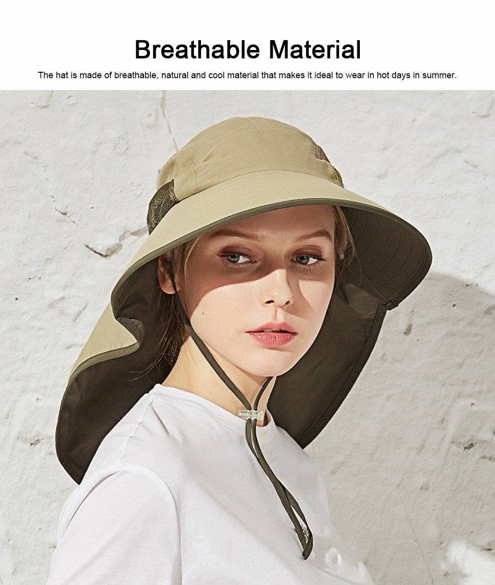 Summer Sunbonnet for Women, Quick Dry Sun-proof Sun Hat, for Outdoor Activities Climbing Beach 1