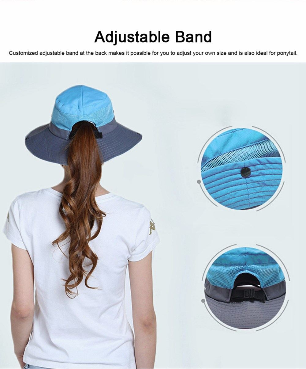 Foldable Bucket Hat for Women, Sunbonnet Sun Hat for Summer, Wind-proof Sun-proof for Outdoor Activities 3