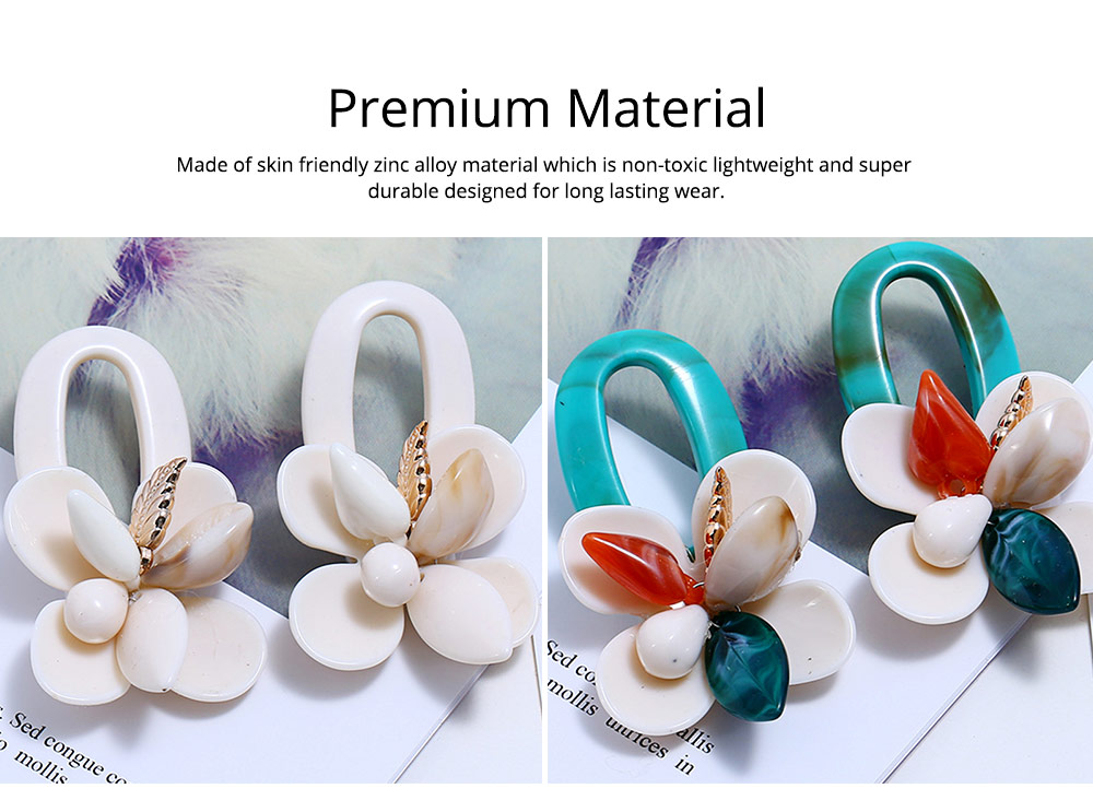 Retro Exaggerated Earrings Shell Coral Multilayer Earrings Acrylic Hoop Pendants Gifts for Women 3