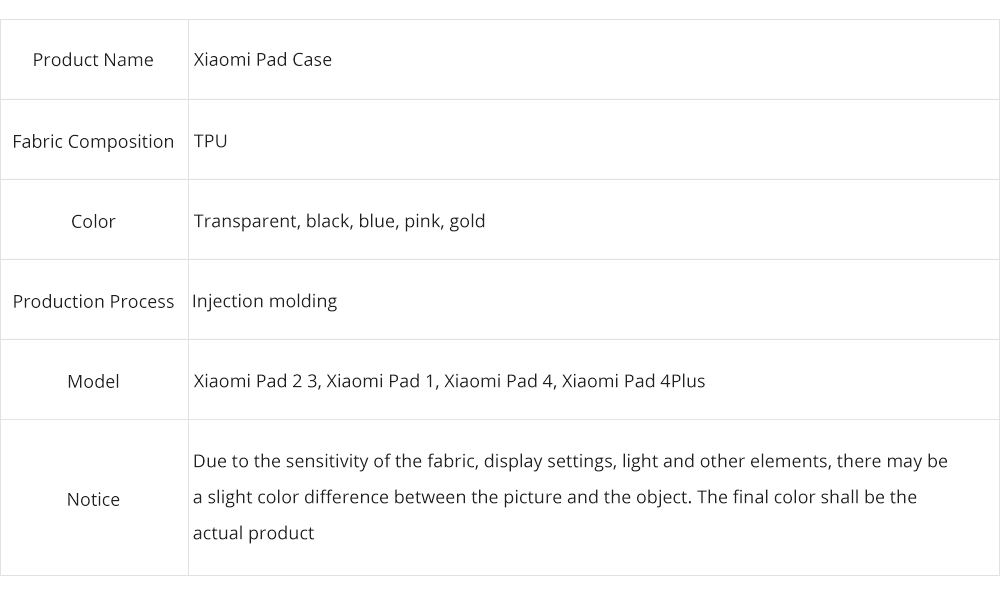 Transparent Protective TPU Case for Xiaomi Tablet, Ultra-thin Shockroof Case for Xiaomi Pad 2 3, Xiaomi Pad 1, Xiaomi Pad 4 4Plus 7