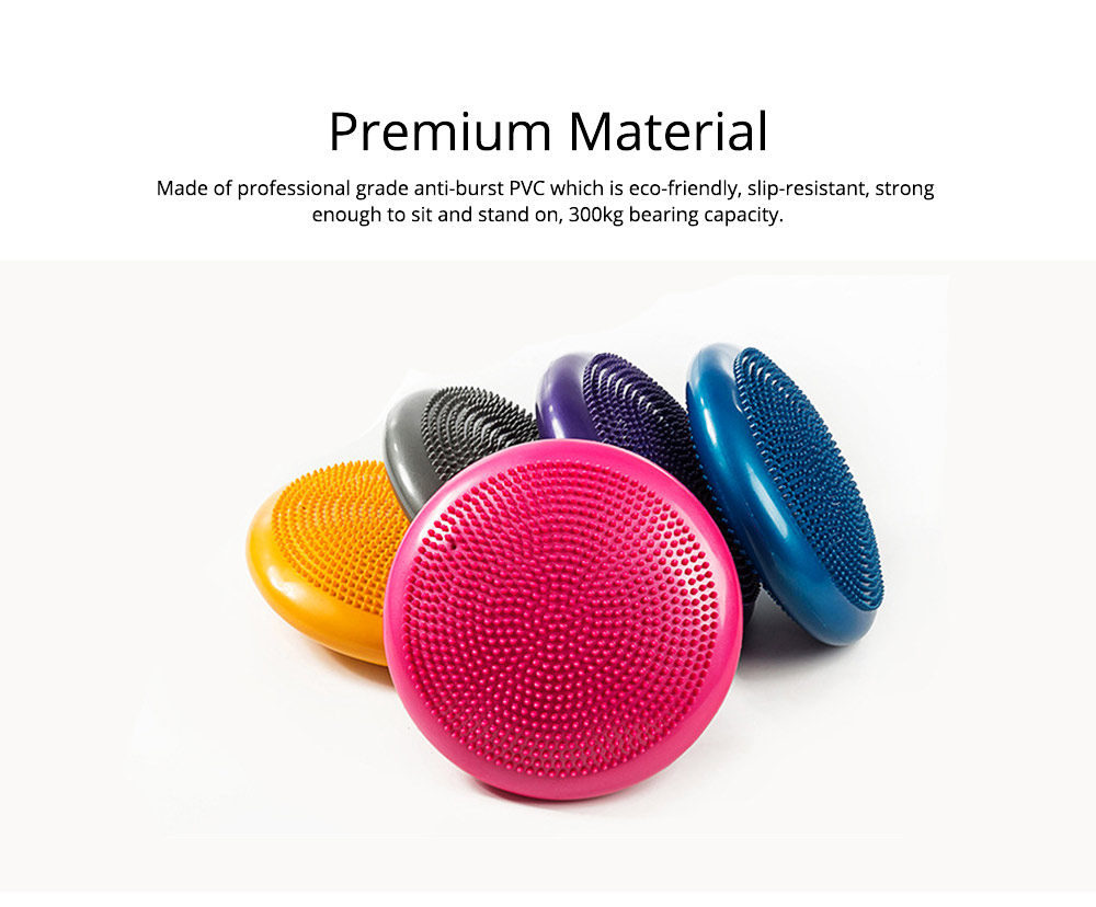 Yoga Balance Disc Extra Thick Inflatable Exercise Fitness Stability Wobble Cushion with Inflator for Training Physical Therapy 4
