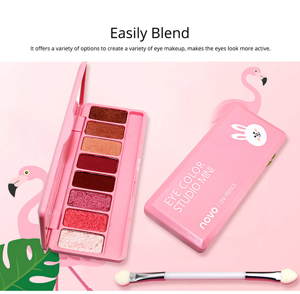 8 Colors Eye Shadow Palette, Waterproof Long Lasting Makeup Eyeshadow Palette, Colorful Cosmetics 2