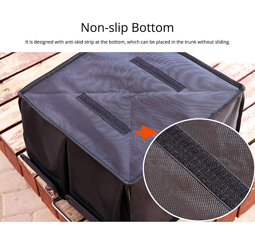 Durable Storage Box for Car & Home, Foldable Utility Box for Car, Vehicle-mounted Non-slip Bottom Sorting Box L S Size 1