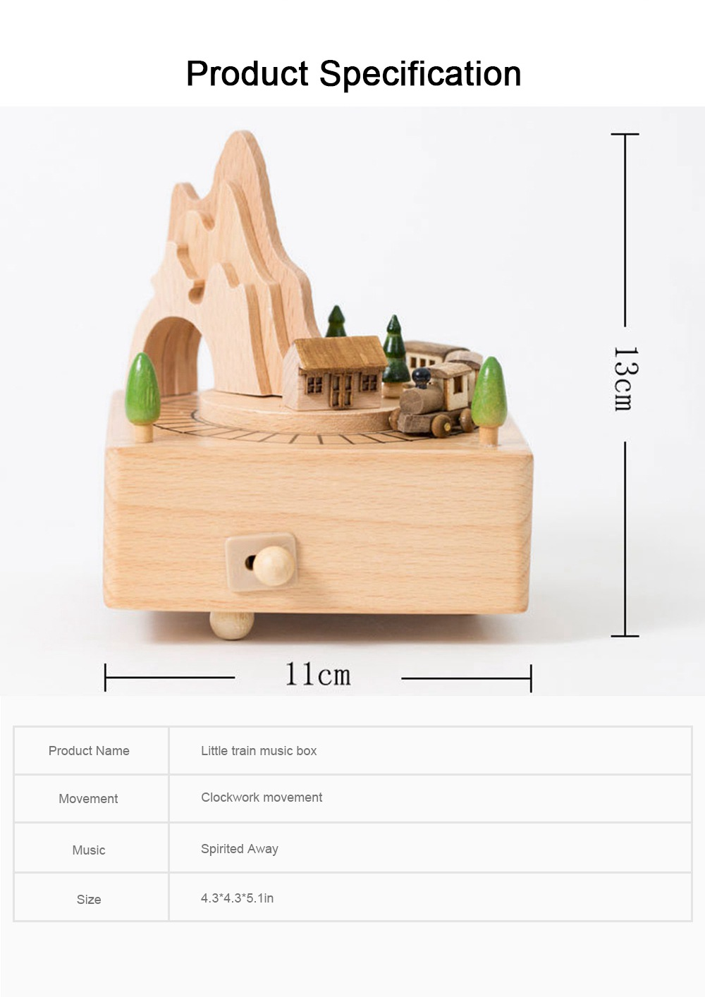 Creative Roller Coaster Wooden Music Box, Hand-made Wood Ware, Gifts Presents Ideal for Girlfriend Children Kids 6