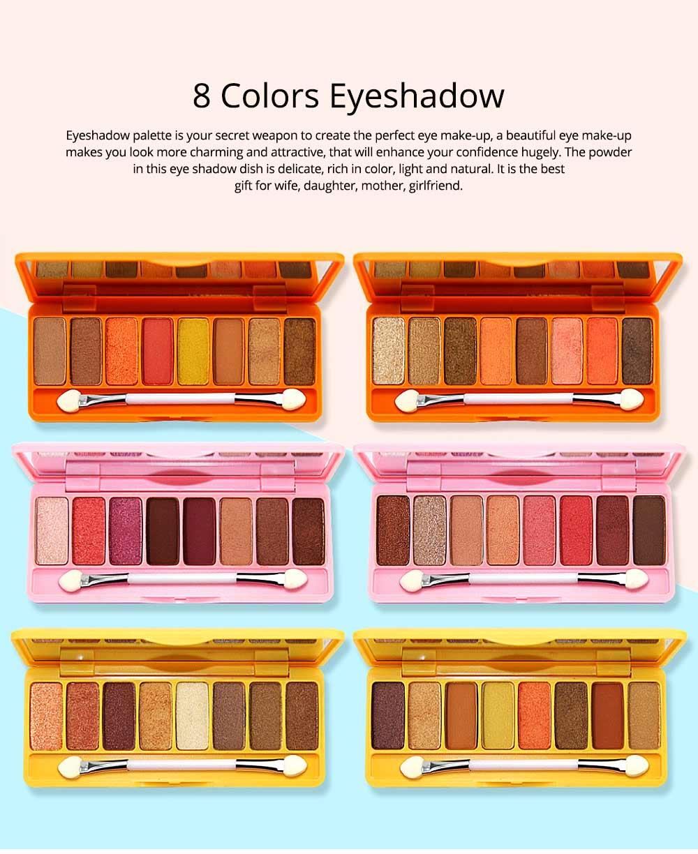 8 Colors Eye Shadow Palette, Waterproof Long Lasting Makeup Eyeshadow Palette, Colorful Cosmetics 0