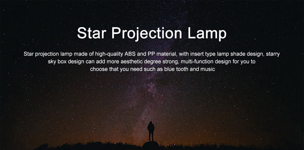 LED Rotation Star Projection Lamp Light Remote Control Design Free Installation Insert Type Lamp Shade Light with Starry Sky Box 0