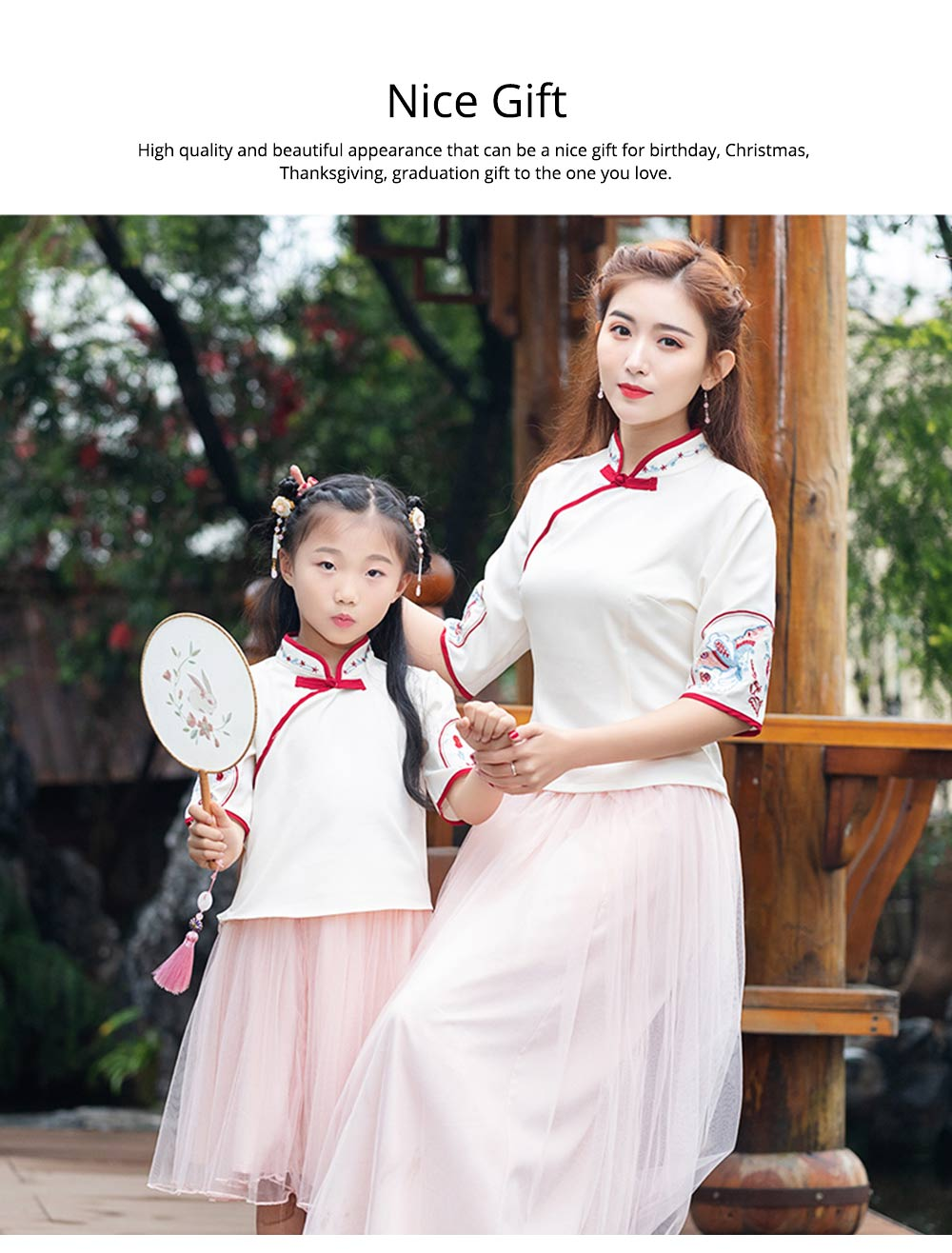 Chinese Dress Retro Improved Cheongsam Blossoms Fairy Costume Genuine Original Two-Piece Improved Hanfu 5