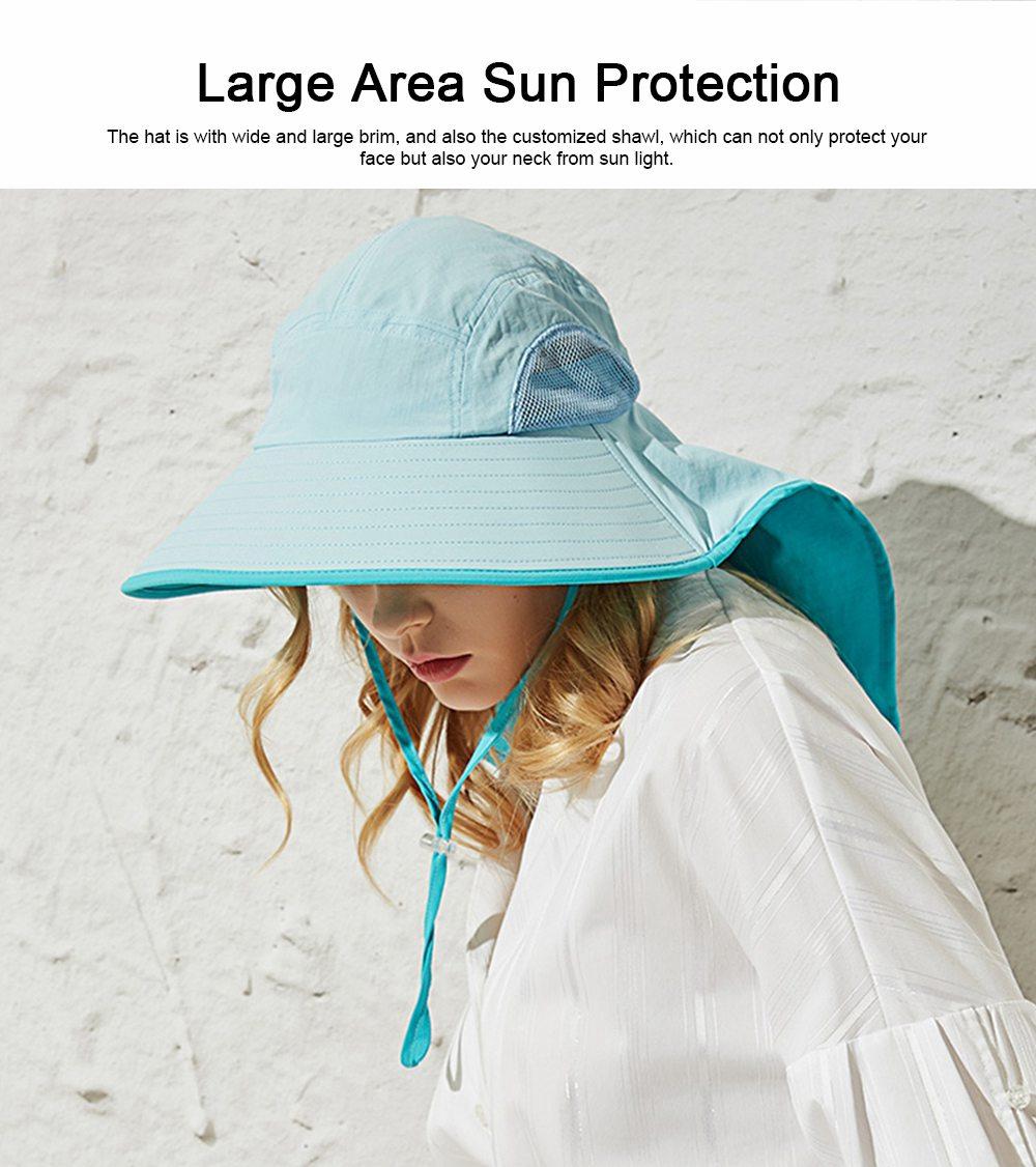 Summer Sunbonnet for Women, Quick Dry Sun-proof Sun Hat, for Outdoor Activities Climbing Beach 3