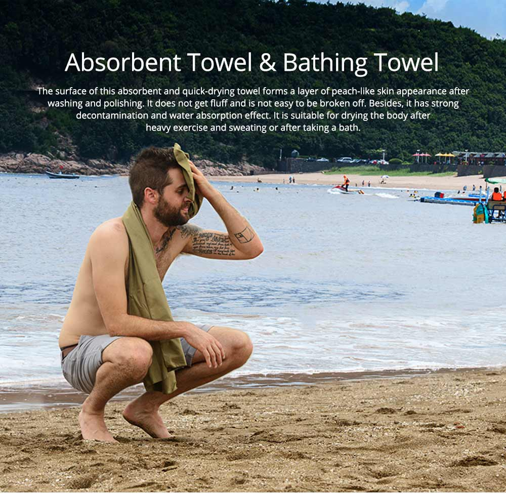 Absorbent Towel & Bathing Towel, Quick-dry Towel or Bath Towel for Home or Outdoor Travel 0