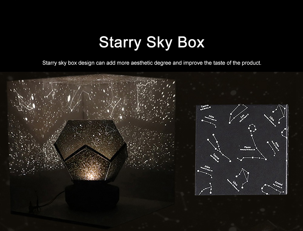 LED Rotation Star Projection Lamp Light Remote Control Design Free Installation Insert Type Lamp Shade Light with Starry Sky Box 6
