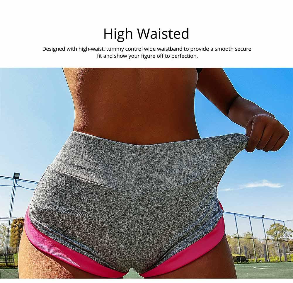 Women Workout Running Shorts Breathable Active Yoga Gym Sport Shorts Fashion Sportswear 2