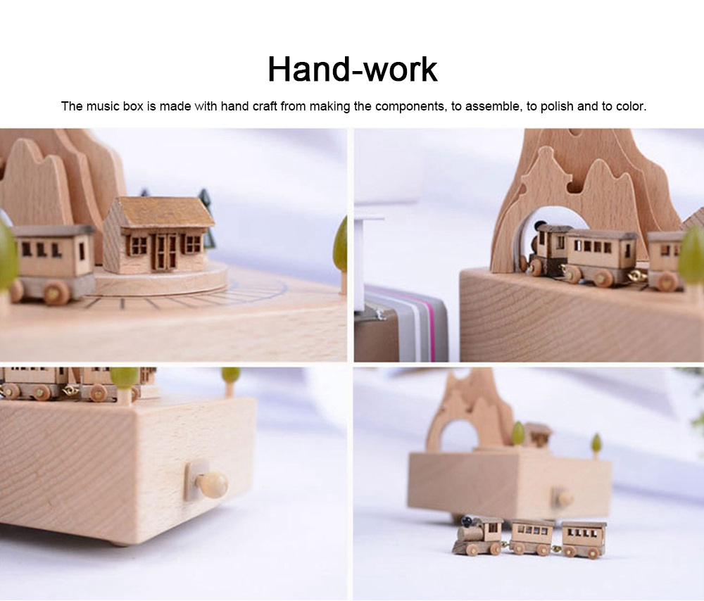 Creative Roller Coaster Wooden Music Box, Hand-made Wood Ware, Gifts Presents Ideal for Girlfriend Children Kids 3