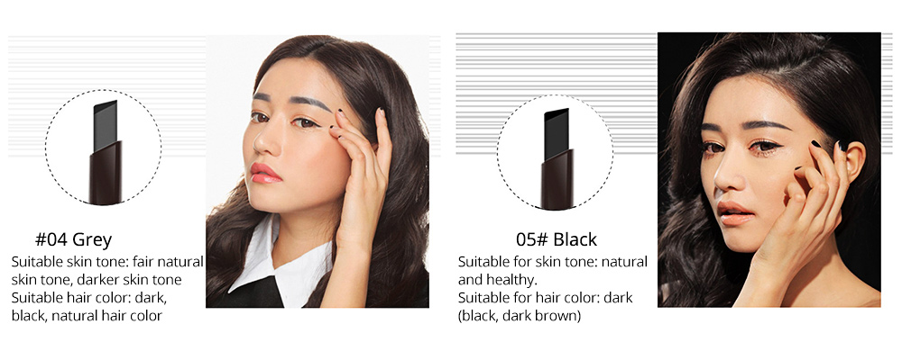 Double-Head Rotated Eyebrow Pencil, Waterproof Eyebrow Pencil, Eyebrow Pencil with a Brush NOVO 5 Colors Available 7