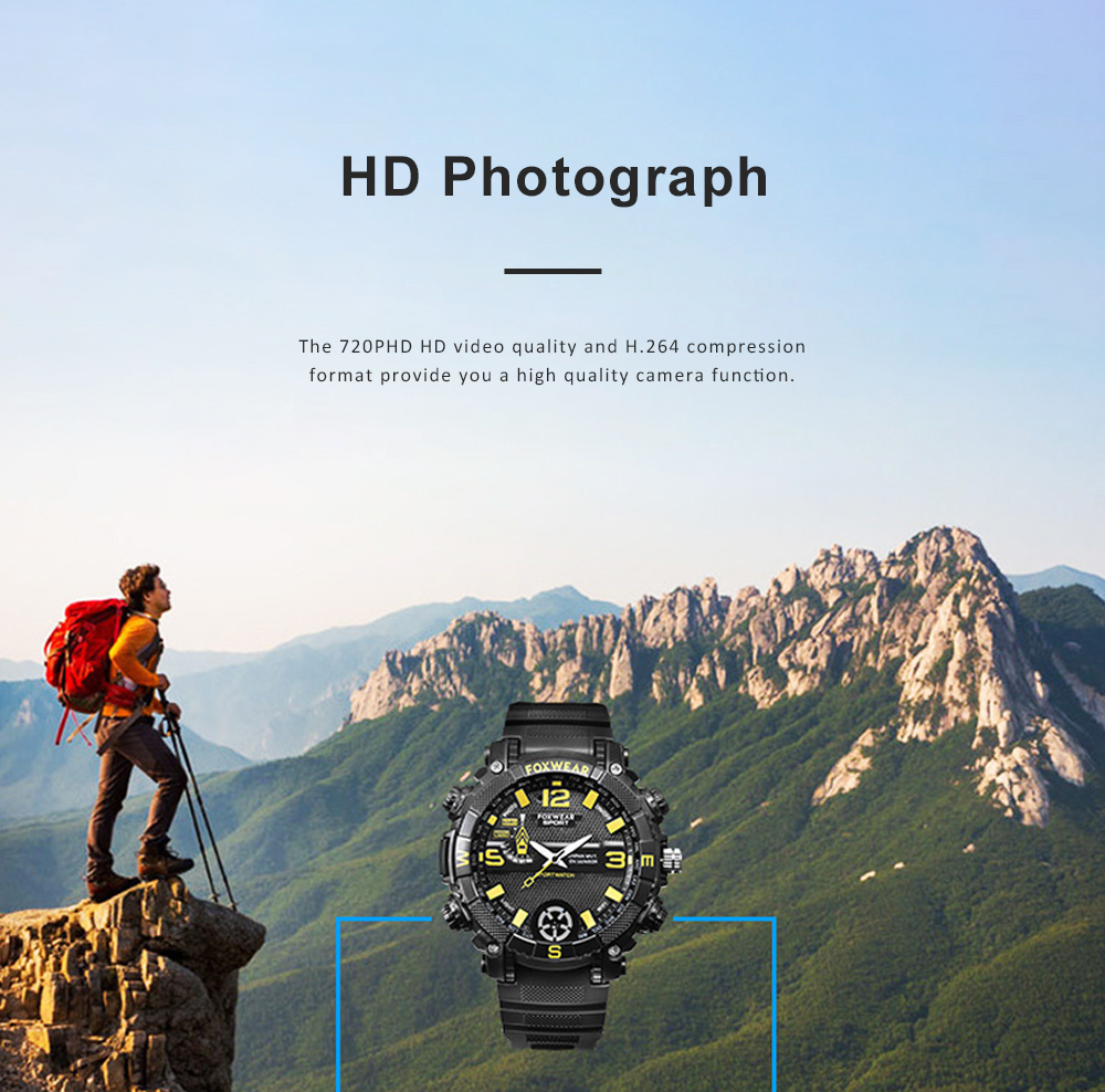 HD Camera Sport Watch IPX7 Waterproof Smart Wifi Watch with LED Lighting Outdoors Sports Watch For Men 4