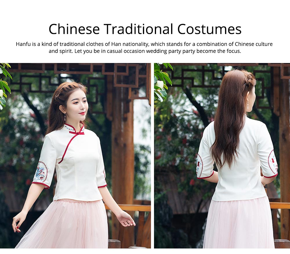 Chinese Dress Retro Improved Cheongsam Blossoms Fairy Costume Genuine Original Two-Piece Improved Hanfu 6