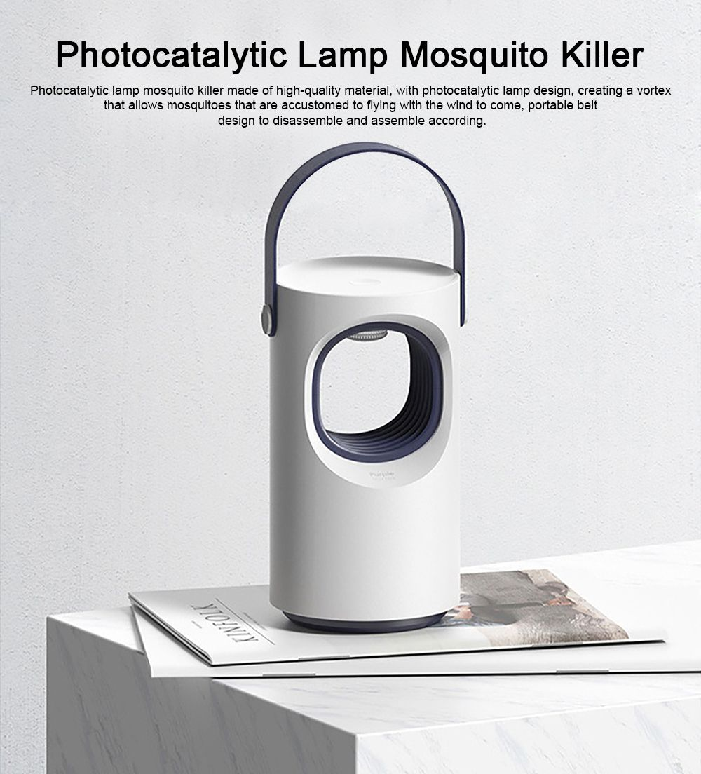 Photocatalytic Lamp Mosquito Killer, Vortex Prevent Escape Mosquito Lamp, Portable Belt Silent LED Electric Mosquito Machine 0