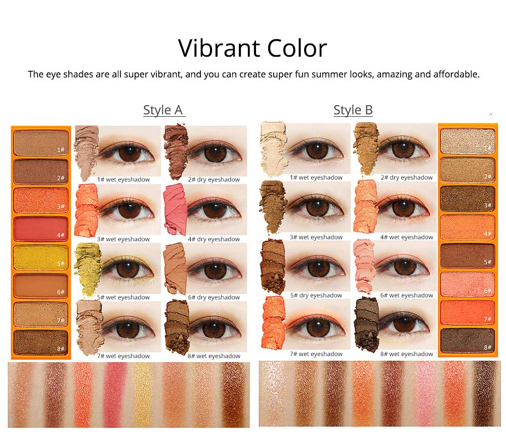 8 Colors Eye Shadow Palette, Waterproof Long Lasting Makeup Eyeshadow Palette, Colorful Cosmetics 4