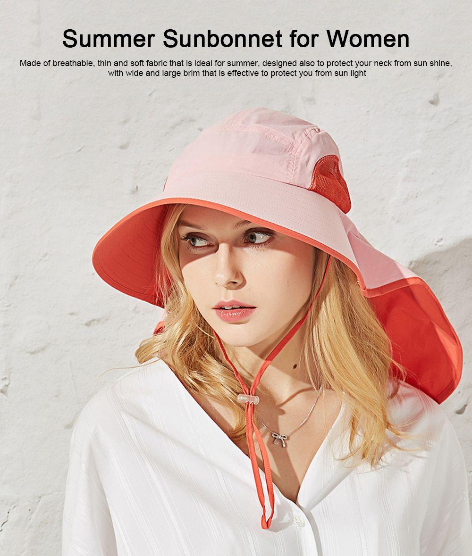 Summer Sunbonnet for Women, Quick Dry Sun-proof Sun Hat, for Outdoor Activities Climbing Beach 0